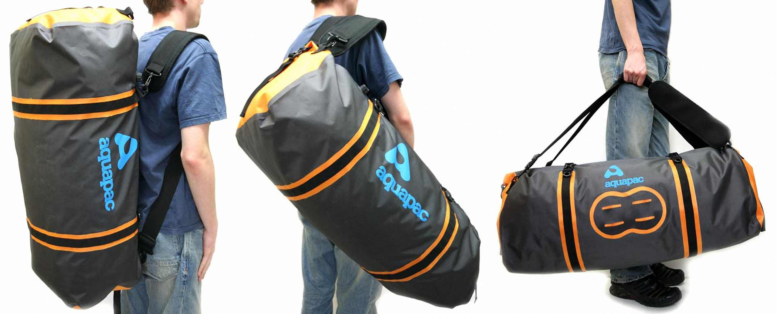 Водонепроницаемая сумка-рюкзак Aquapac 705 - Upano Waterproof Duffel - 90L.. Aquapac - №1 в мире водонепроницаемых чехлов и сумок. Фото 6