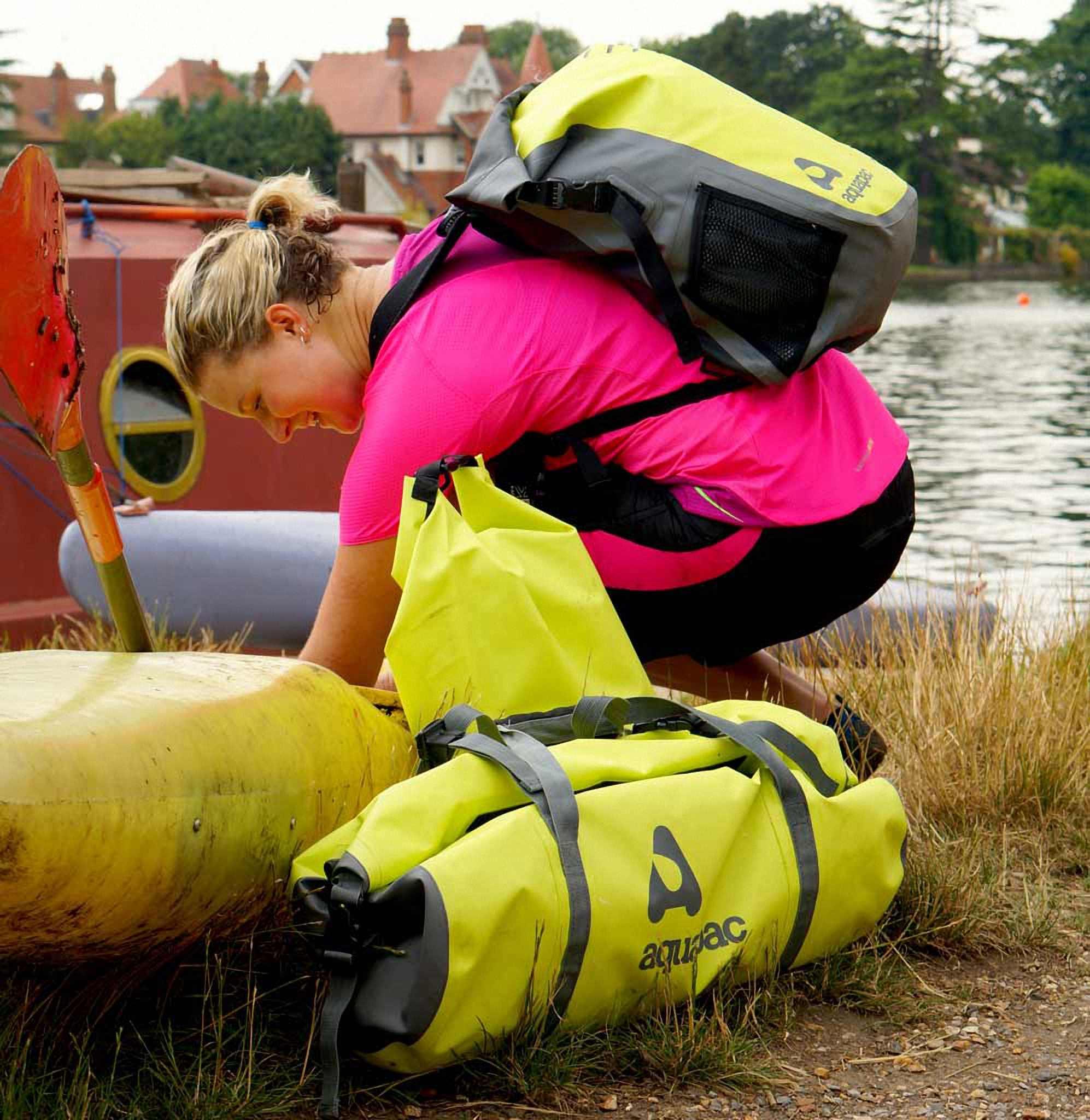 Водонепроницаемая сумка Aquapac 725 - TrailProof Duffels - 90L.. Aquapac - №1 в мире водонепроницаемых чехлов и сумок. Фото 5