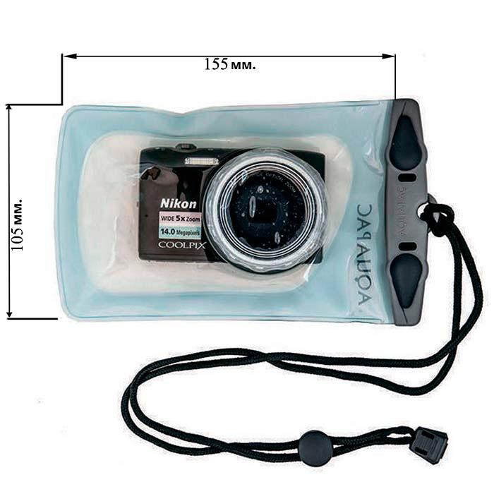 Водонепроницаемый чехол Aquapac 420 - Small Camera Case (Light Blue)
