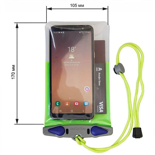 Водонепроницаемый чехол Aquapac 353 - Classic Phone Case - Large Size (Green)