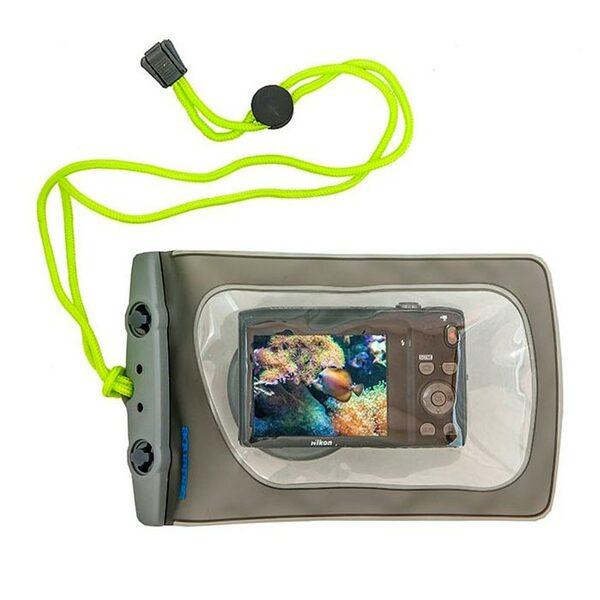 Водонепроницаемый чехол Aquapac 428 - Mini Camera Case with Hard Lens (Cool Grey)
