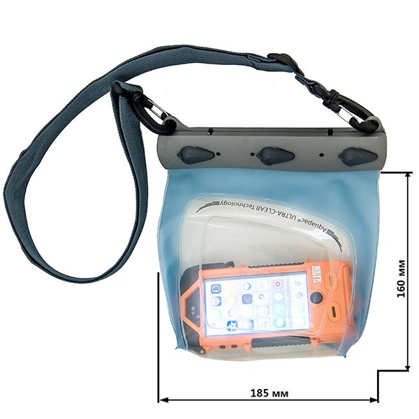 Водонепроницаемый чехол Aquapac 445 - Large Smartphone Case (Light Blue)