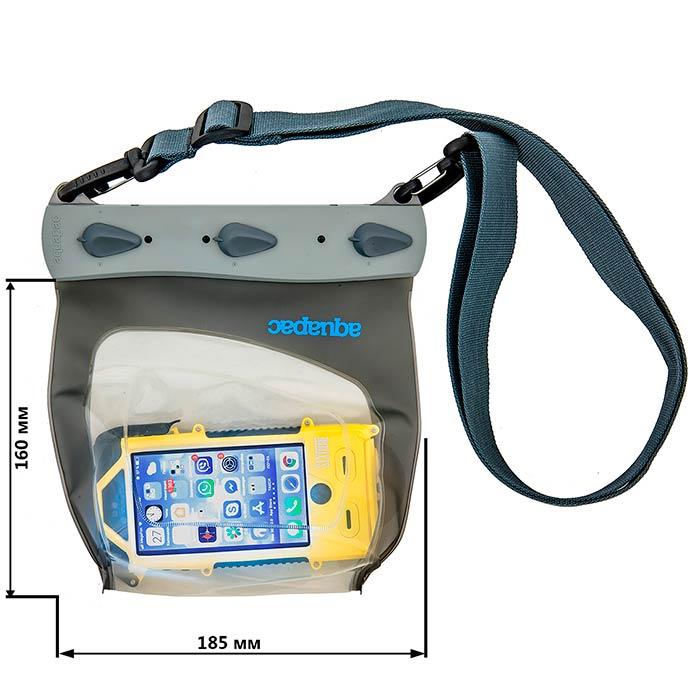 Водонепроницаемый чехол Aquapac 448- Large Smartphone Case (Cool Grey)