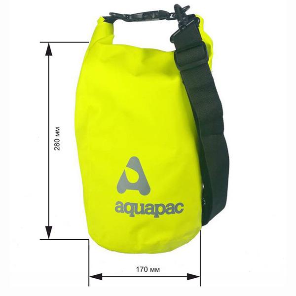 Водонепроницаемый гермомешок (с плечевым ремнем) Aquapac 731 - TrailProof™ Drybag – 7L with shoulder strap (Acid Green)
