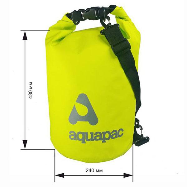 Водонепроницаемый гермомешок (с плечевым ремнем) Aquapac 733 - TrailProof™ Drybag – 15L with shoulder strap (Acid Green)