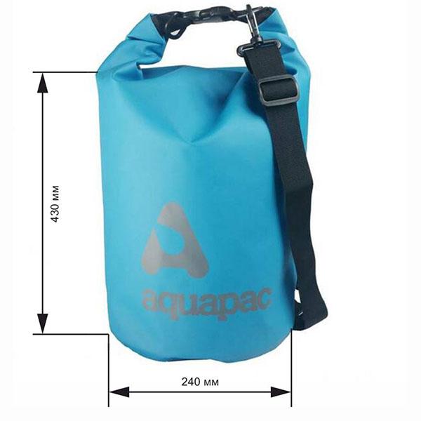 Водонепроницаемый гермомешок (с плечевым ремнем) Aquapac 734 - TrailProof™ Drybag – 15L with shoulder strap (Cool Blue)