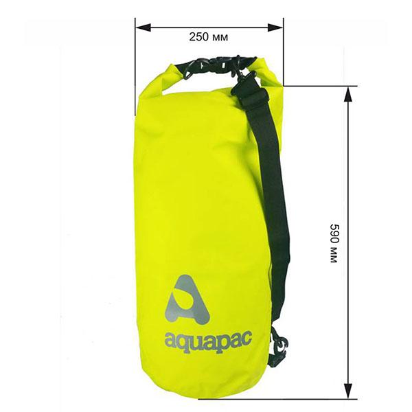 Водонепроницаемый гермомешок (с плечевым ремнем) Aquapac 735 - TrailProof™ Drybag – 25L with shoulder strap