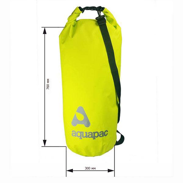 Водонепроницаемый гермомешок (с плечевым ремнем) Aquapac 737 - TrailProof™ Drybag – 70L with shoulder strap (Acid Green)