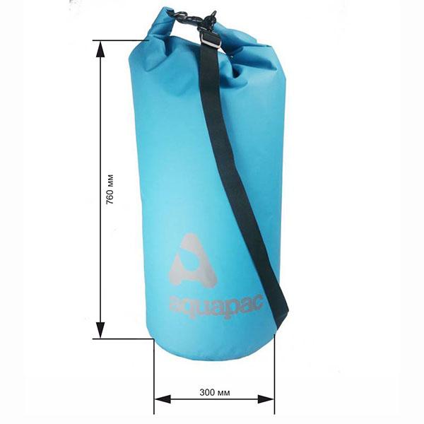Водонепроницаемый гермомешок (с плечевым ремнем) Aquapac 738 - TrailProof™ Drybag – 70L with shoulder strap (Cool Blue)
