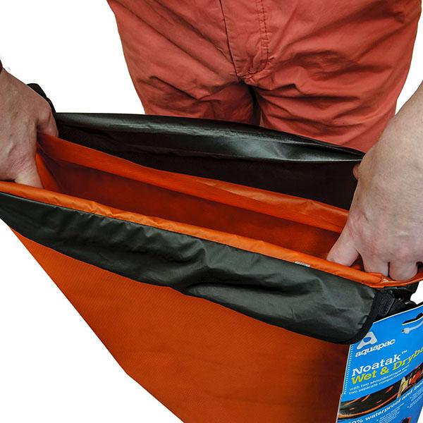 Водонепроницаемый гермомешок рюкзак (с двумя плечевыми ремнями) Aquapac 750 - Noatak Wet & Drybag - 60L (Grey)