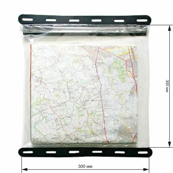 Водонепроницаемый чехол Aquapac 808 - Kaituna Map Case (Clear With Black Border)