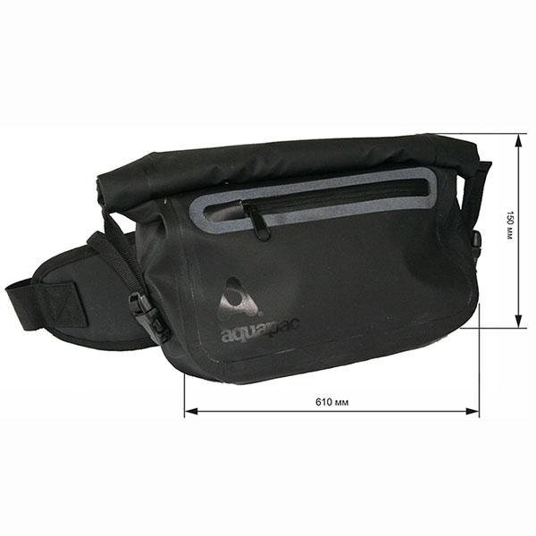 Водонепроницаемая поясная сумка Aquapac 823 - TrailProof™ Waist Pack (Black)