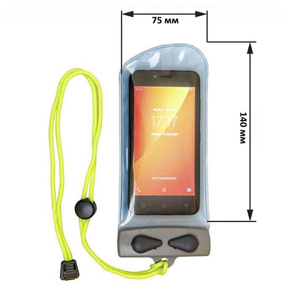 Водонепроницаемый чехол Aquapac 104 - Mini Electronics Case (Light Blue)