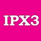 IPX3 - защита от брызг, песка, грязи, сильного дождя. Не предназначена для погружения в воду.