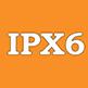 IPX6 - защита от брызг, песка, грязи, сильного дождя и краткопременное погружение в воду.