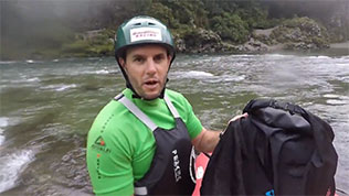 Australian Men's Rafting Team test Aquapac waterproof backpack