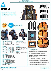 Водонепроницаемая сумка-рюкзак Aquapac 701 - Upano Waterproof Duffel - 40L.. Aquapac - №1 в мире водонепроницаемых чехлов и сумок. Фото 5