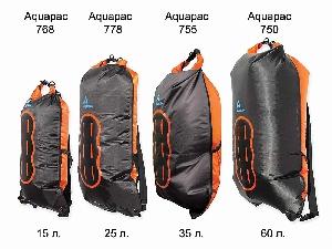 Водонепроницаемый  гермомешок-рюкзак (с двумя плечевыми ремнями) Aquapac 755 - Noatak Wet & Drybag - 35L.. Aquapac - №1 в мире водонепроницаемых чехлов и сумок. Фото 1