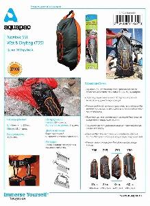 Водонепроницаемый  гермомешок-рюкзак (с двумя плечевыми ремнями) Aquapac 755 - Noatak Wet & Drybag - 35L.. Aquapac - №1 в мире водонепроницаемых чехлов и сумок. Фото 9