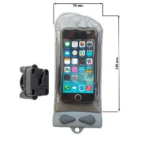Водонепроницаемый чехол Aquapac 110 - Mini Bike Mounted Phone Case (Cool Grey)