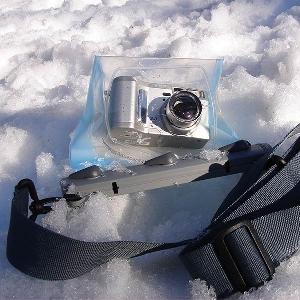 Водонепроницаемый чехол Aquapac 445 - Large Camera Case (Light Blue)